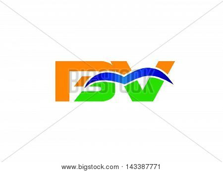 Letter B and V logo vector design