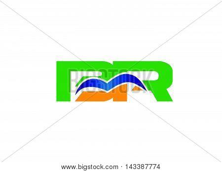 BR logo. BR company group linked letter logo