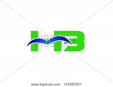 Bi logo. IB company linked letter logo