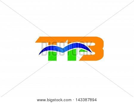 Letter T and B logo vector template