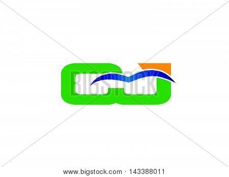 JC company group linked letter logo design