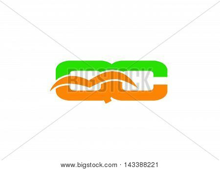 QC logo Letter Q and C logo vector design