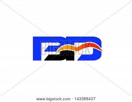 Letter B and D logo. BD company linked letter logo