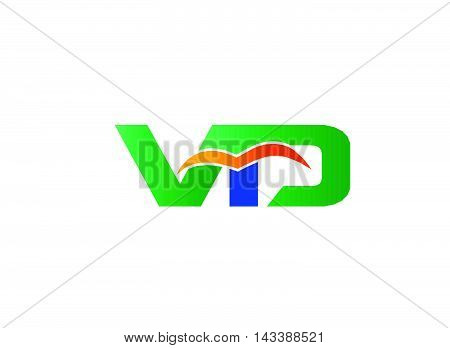 Letter V and D logo. VD company linked letter logo