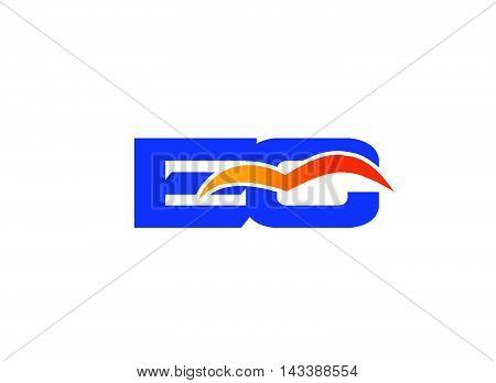 EC Logo. EC company linked letter logo
