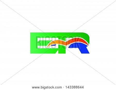 ER Logo. ER company linked letter logo