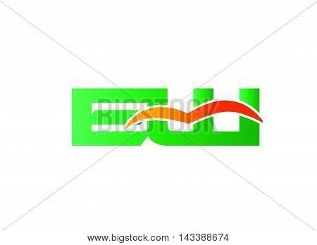 EW Logo. EW company linked letter logo
