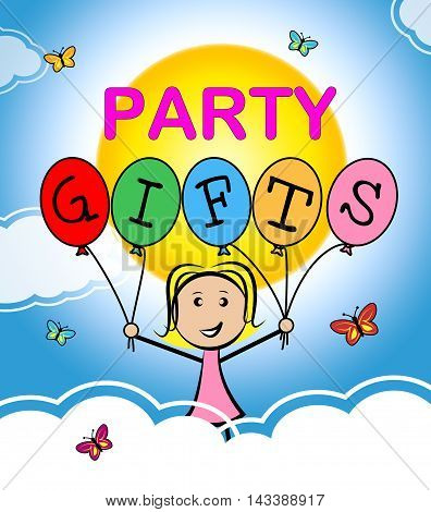 Party Gifts Represent Fun Package And Giftbox
