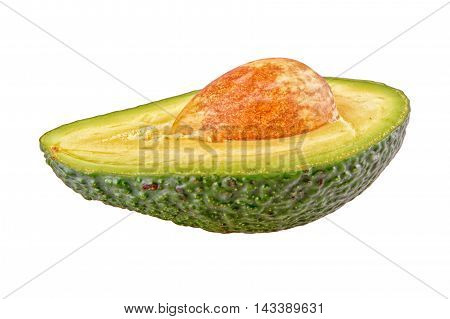 Cut avocado isolated on a white background