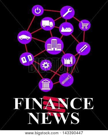 Finance News Shows Money Headlines And Information
