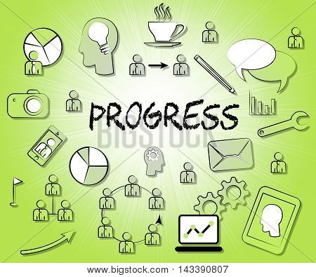 Progress Icons Show Betterment Headway And Advancement