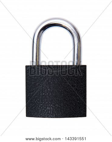 Closed padlock isolated on the white background