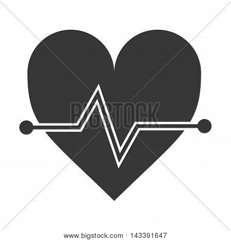 heart cardio healthy lifestyle gym fitness icon. Flat and Isolated design. Vector illustration