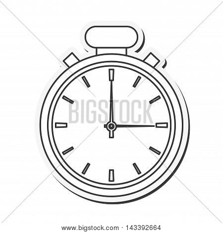 chronometer time seconds minute icon. Flat and Isolated design. Vector illustration