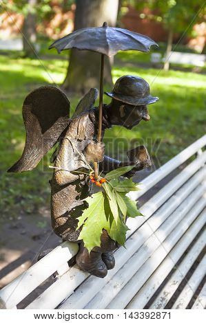 ST. PETERSBURG, RUSSIA - AUGUST 17, 2016: Photo of Sculpture