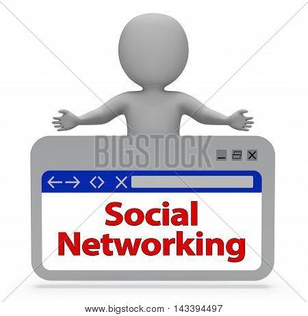 Social Networking Online Indicates Forum Posts 3D Rendering