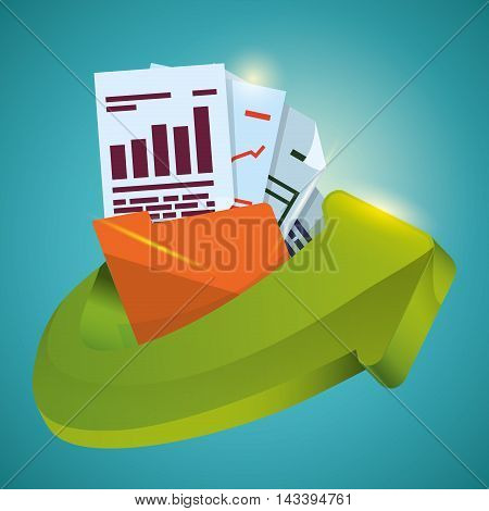 file folder document web hosting data center security system technology icon set. Colorful and flat design. Vector illustration