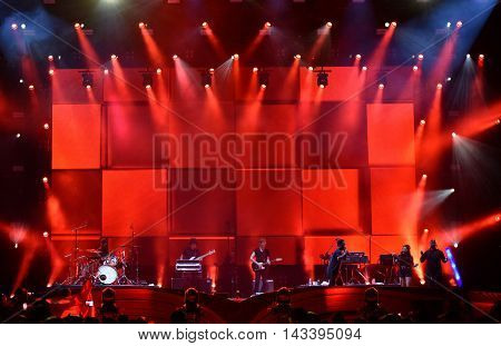 Band Performs Live On The Stage