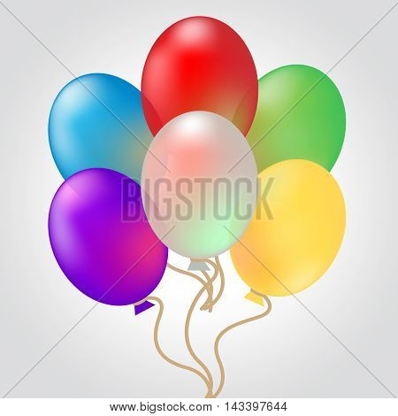Celebrate With Balloons Shows Decoration And Celebration