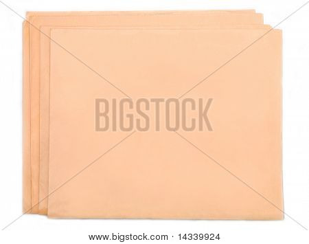 Blank folded news paper