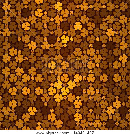 Seamless Pattern With Orange Clovers