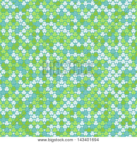 Seamless Pattern With Clovers In Pastel Colors