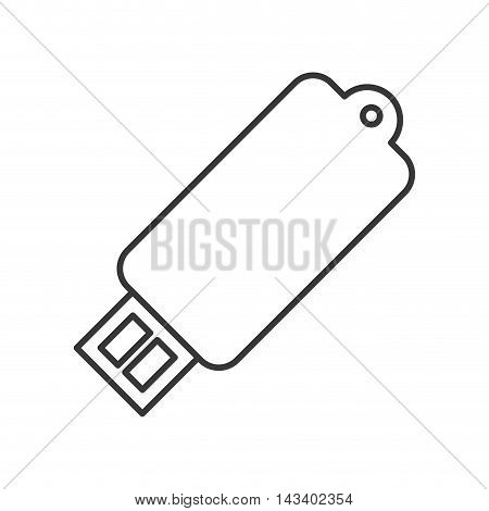 usb gadget technology device icon. Flat and Isolated design. Vector illustration