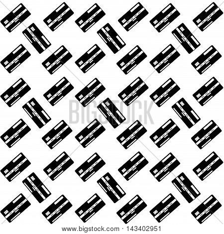 Seamless pattern credit card. Monochrome background with money vector illustration