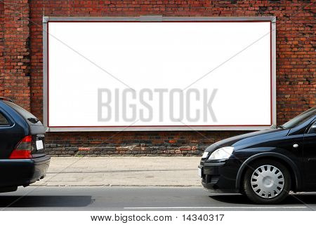 Billboard in the street