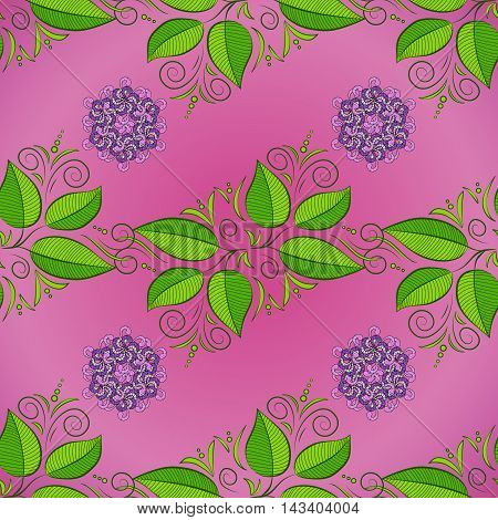 Ornate floral seamless texture endless pattern with flowers.