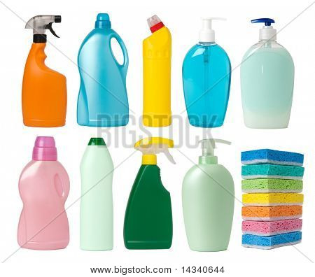 Recipientes de suministros de limpieza