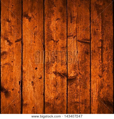 Realistic texture wood planks with natural structure. Empty brown color background square size. Vector illustration design elements save in 10 eps