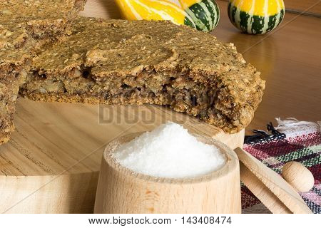Domestic Unleavened Barley Bread With Salt
