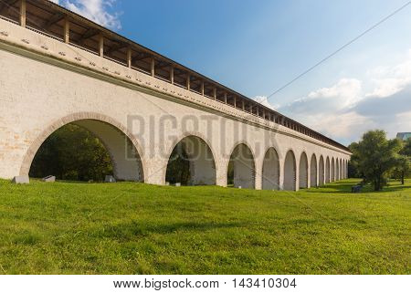 Rostokino Aqueduct also known as Millionny Bridge in Moscow