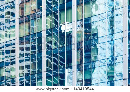 Glass Wall With Reflections