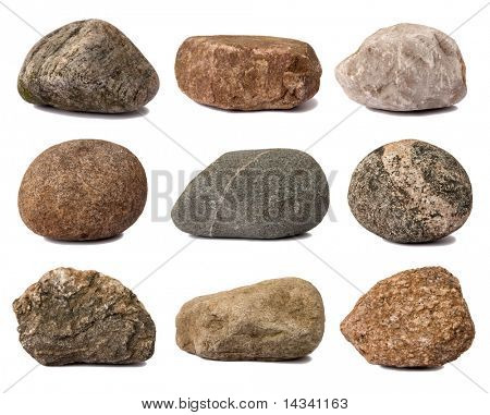 Rocks isolated on white