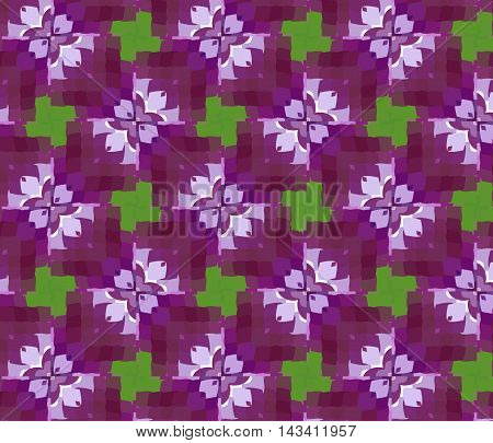 Primitive Simple Lilac Modern Pattern With Rectangles.