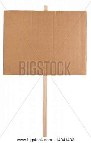 Blank protest sign