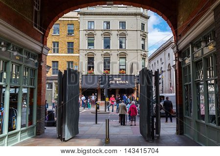 Entrance Of The Old Spitalfields Market In London
