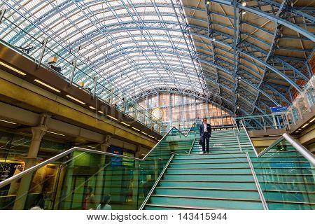 St. Pancras Railway Station In London, Uk