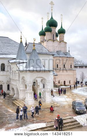 ROSTOV RUSSIA - January 03.2015: Eldest city of Russia. Included in the Gold Ring of Russia. Kremlin is in city Rostov