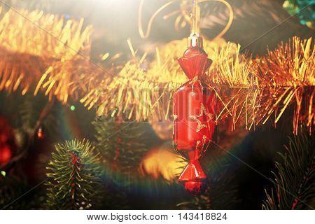 Christmas-tree Decorations On A Christmas Fir-tree
