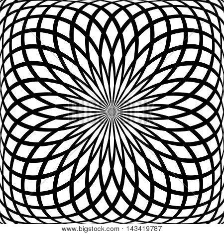 Abstract rotation pattern. Vector art.