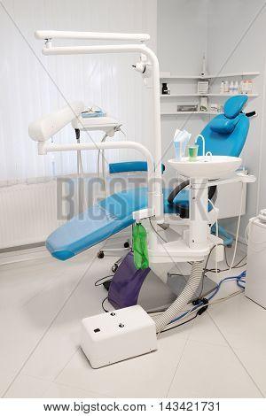Equipment of a modern dental room