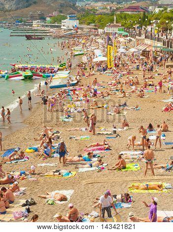 Crimea Beach In The Summer