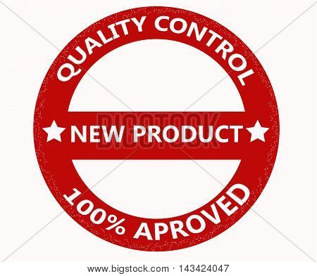 Quality control stamp isolated on white background