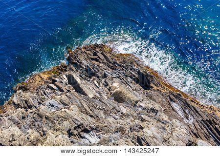 Aerial View At The Mediterranean Coast