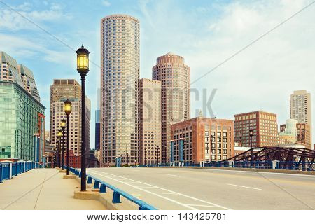 Boston Financial District in Boston Massachusetts USA