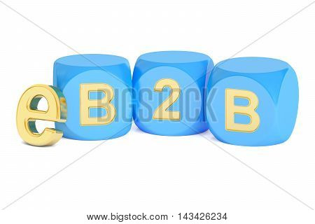 B2B e-commerce concept 3D rendering isolated on white background