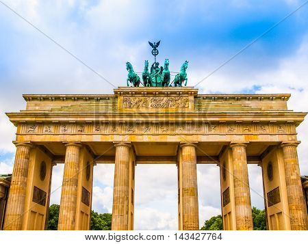 Brandenburger Tor Berlin Hdr